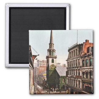 Old South Church Boston 1900 - Vintage Magnet