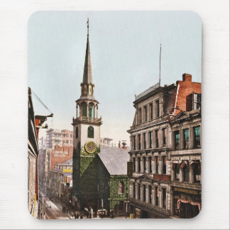Old South Church Boston 1900 - Vintage Mouse Pad