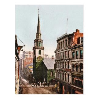 Old South Church Boston 1900 Vintage Postcard