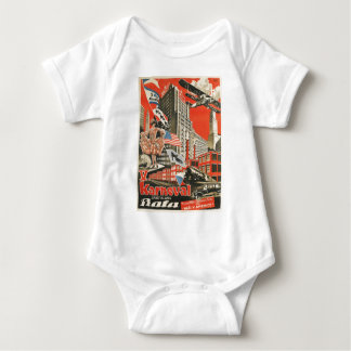 Old Soviet Czech Propaganda Apparel Baby Bodysuit