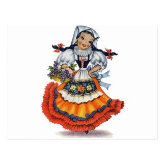 Old Spanish doll Postcard