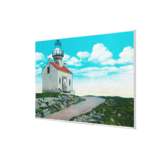 Old Spanish Lighthouse at Point Loma Canvas Print
