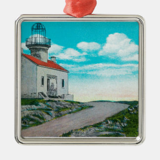 Old Spanish Lighthouse at Point Loma Christmas Ornament