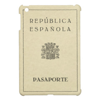 Old Spanish Republic passport (sepia to paper) Case For The iPad Mini
