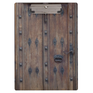 Old Spanish Wooden Door with Bolts Clipboard