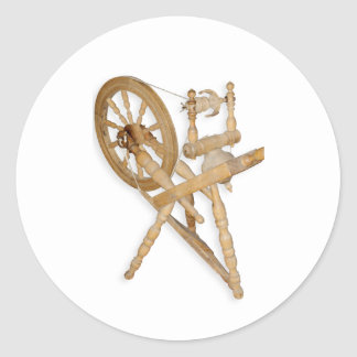 Old spinning-wheel classic round sticker