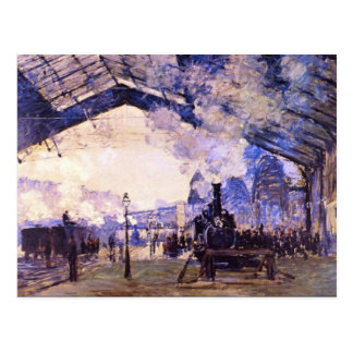 Old St Lazarre Station by Claude Monet Post Cards