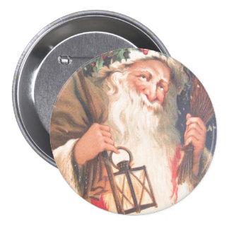 Old St. Nicholas with Lantern Vintage Button