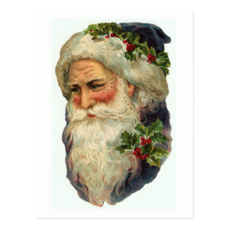 Old St Nick Card Postcard