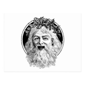 Old St. Nick Retro Christmas Postcard