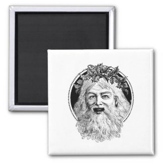 Old St. Nick Retro Christmas Square Magnet