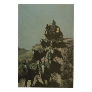 Old Stage Coach of the Plains by Remington Wood Canvases