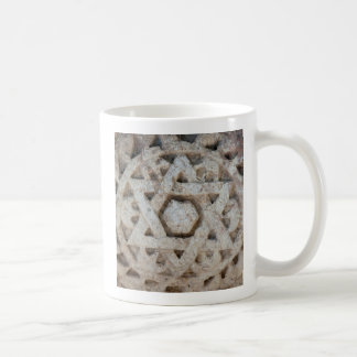 Old Star of David carving, Israel Coffee Mug