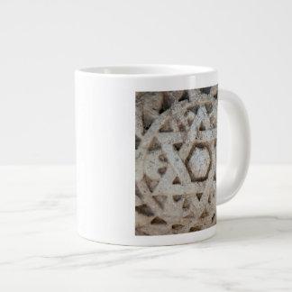 Old Star of David carving, Israel Giant Coffee Mug