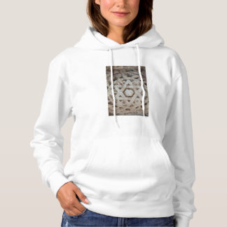 Old Star of David carving, Israel Hoodie