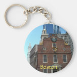 Old State House, Boston Basic Round Button Key Ring
