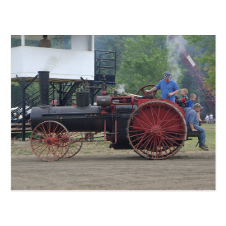 Old Steam/Coal Engine Tractor Postcard