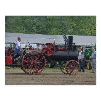Old Steam Engine Tractor Postcard
