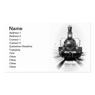 Old steam locomotive business card template