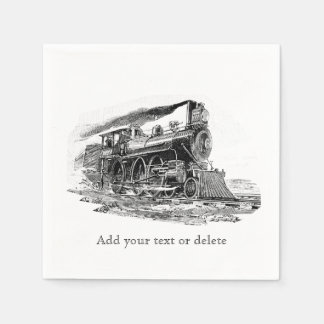 Old Steam Locomotive Paper Napkins