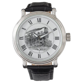 Old Steam Locomotive Wristwatches