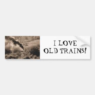 Old Steamengine train (I love old trains) Car Bumper Sticker