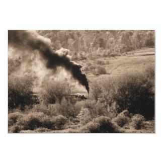 Old Steamengine train (I love old trains) 9 Cm X 13 Cm Invitation Card
