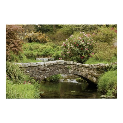 Old Stone Bridge Across A Stream In Dartmoor Park Posters
