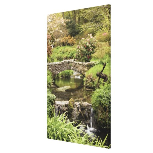 Old Stone Bridge Over A Stream In Dartmoor Park Gallery Wrapped Canvas