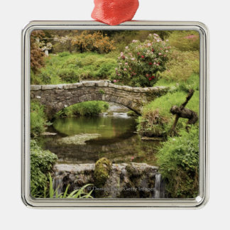 Old Stone Bridge Over A Stream In Dartmoor Park Christmas Ornament