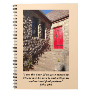 Old Stone Church With Red Door Prayer Journal Notebook