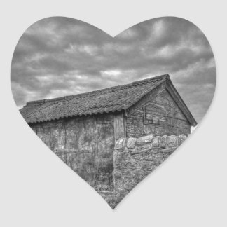 Old stone house in Lancashire Heart Sticker