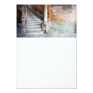Old stone stairway 13 cm x 18 cm invitation card