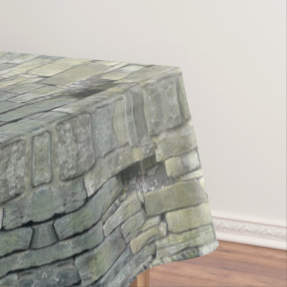 Old Stone Wall Pattern, Rustic Tablecloth