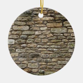 Old Stone wall Round Ceramic Decoration