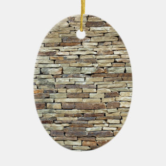 Old stone wall texture christmas ornament