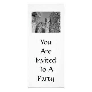 Old Stone Walls and Sky. 4x9.25 Paper Invitation Card