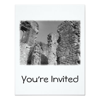 Old Stone Walls and Sky. 4.25x5.5 Paper Invitation Card