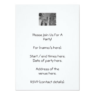 Old Stone Walls and Sky. 6.5x8.75 Paper Invitation Card