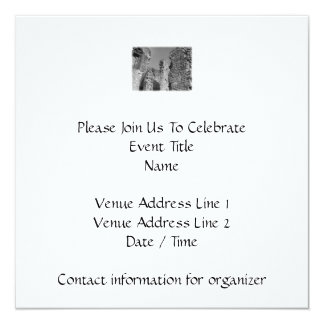 Old Stone Walls and Sky. 5.25x5.25 Square Paper Invitation Card