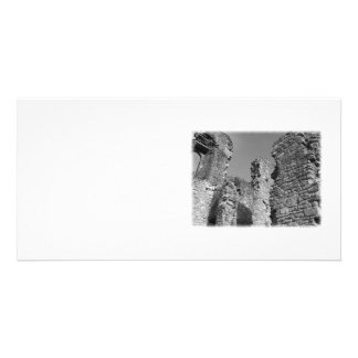 Old Stone Walls and Sky Photo Card Template
