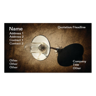Old street lamp business card template