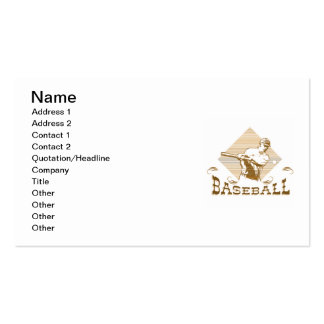 Old Style Baseball T-shirts and Gifts Business Card Templates