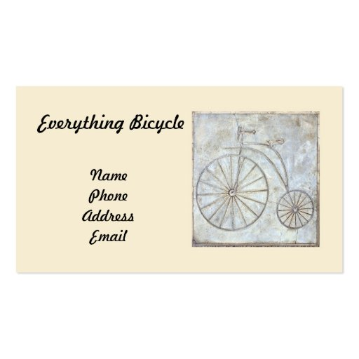 Old Style Bicycle Wall Tile Double Sided Standard Business