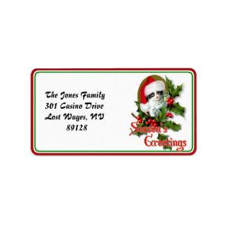 Old Style Christmas Kitten Season's Greetings Address Label