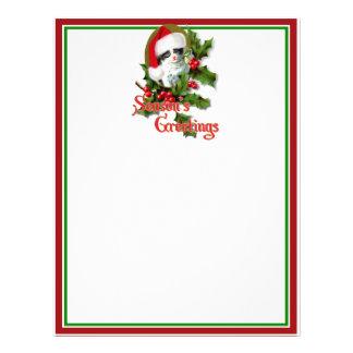 Old Style Christmas Kitten Season's Greetings Custom Flyer