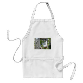 Old style gas pump standard apron