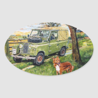 "Old style Land Rover Sticker ""FARM"" Design"