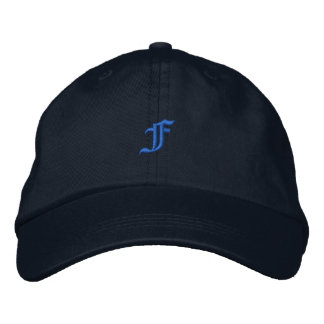 Old Style Letter F Embroidered Hat