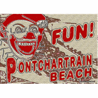 Old Style Pontchartrain Beach Sign Standing Photo Sculpture